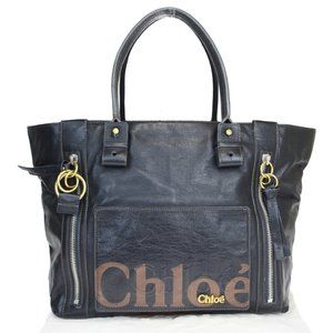 Chloé Eclipse Leather Handbag Black